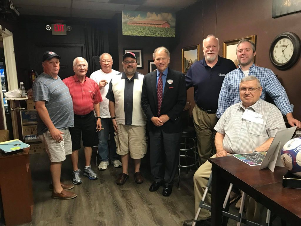 Eric Newman president of J.C. Newman visits Rivermen Cigars