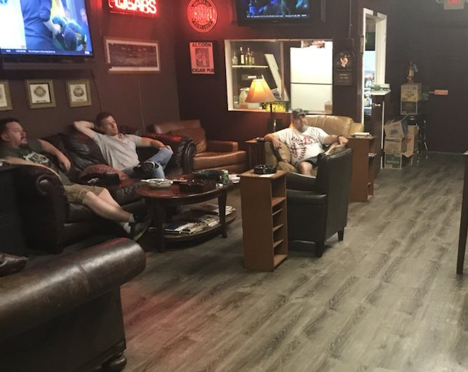 Think of our cigar lounge as your go-to man cave where you can hang out and relax with friends.